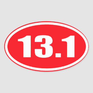 Red 13.1 Sticker | Half Marathon
