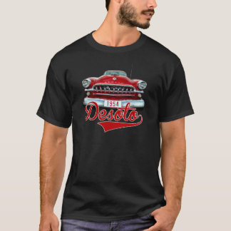 Red 1954 Desoto on Black T-Shirt