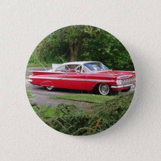 red 1960 impala 2 inch round button
