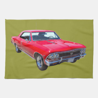 Red 1966 Chevy Chevelle SS 396 Kitchen Towel