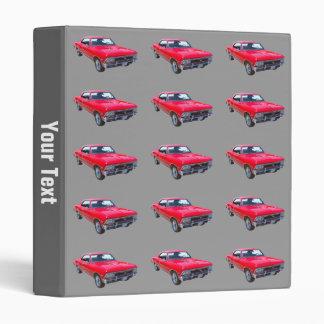Red 1966 Chevy Chevelle SS 396 Vinyl Binder
