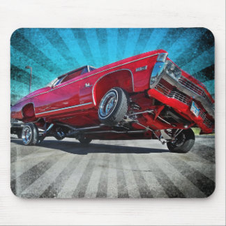 Red 1968 Lowrider Chevy Impala Mousepad