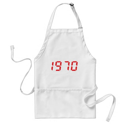 red 1970 icon apron