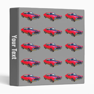 Red 1971 Chevrolet Chevelle SS Muscle Car 3 Ring Binder