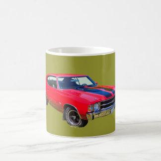 Red 1971 Chevrolet Chevelle SS Muscle Car Basic White Mug