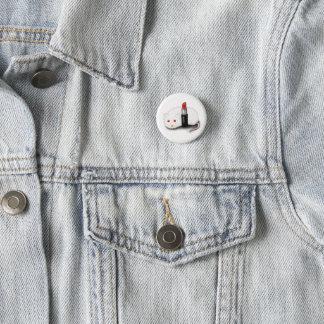 Red 1 Inch Round Button
