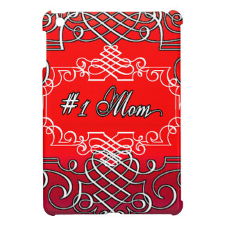 Red #1 MOM Mother's day typography gift iPad Mini Cover