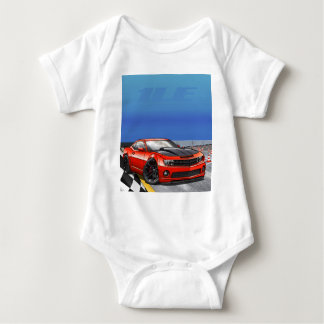 Red_1LE Baby Bodysuit