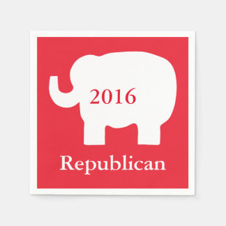 Red 2016 Republican Political Election Event Paper Napkin