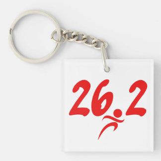 Red 26.2 marathon keychain