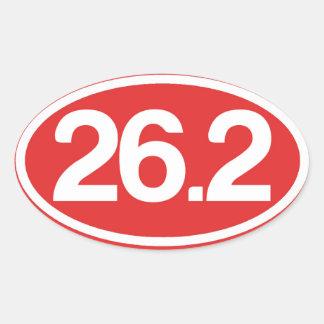 Red 26.2 Sticker (Full Marathon Sticker)