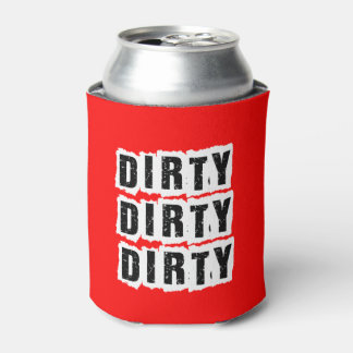 Red 30th Dirty 30 Thirtieth Party Can Cooler