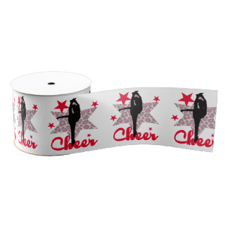 "Red 3"" cheerleader Grosgrain Ribbon"