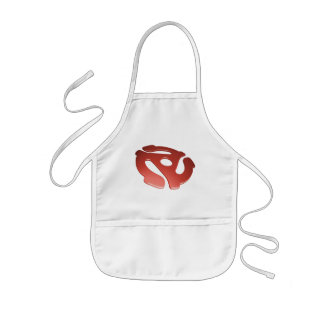 Red 3D 45 RPM Adapter Kids Apron