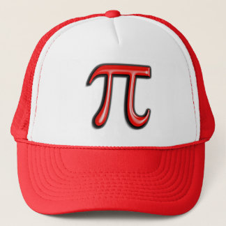 Red 3D Pi Symbol Hats