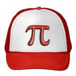 Red 3D Pi Symbol Hats
