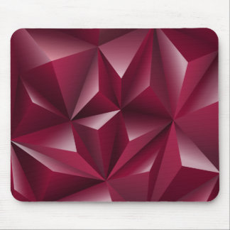 Red 3D Triangles geometric pattern Mouse Pad