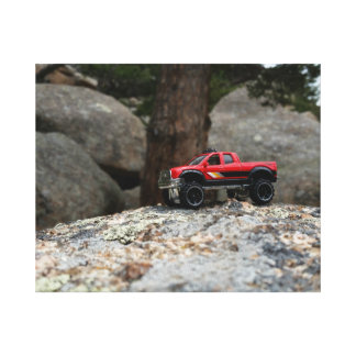 Red 4x4 Diecast Truck Canvas Print