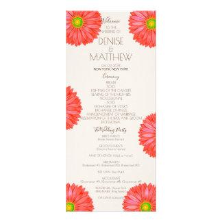 Red 70's Gerbera Wedding Program