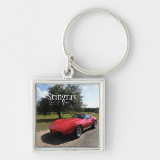 Red '75 Corvette Stingray Keychain