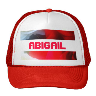 Red Abigail cap Trucker Hat