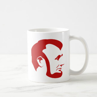 Red Abraham Lincoln Silhouette Coffee Mug