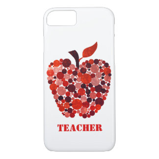 Red Abstract Apple Teachers iPhone 7 Case