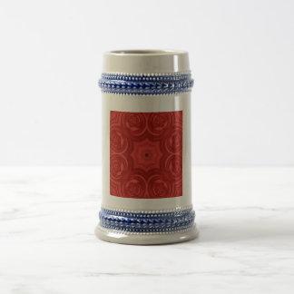 Red abstract art mugs