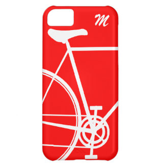 Red Abstract Bicycle Cover For iPhone 5C