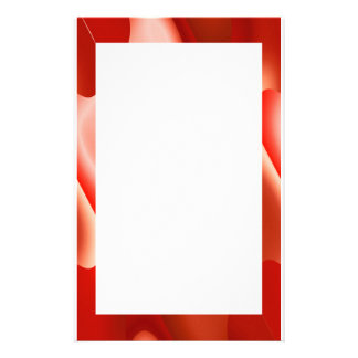red abstract border personalized stationery