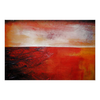 Red Abstract Canvas Painting Print Modern Creative