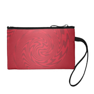 Red Abstract Design Coin Purse