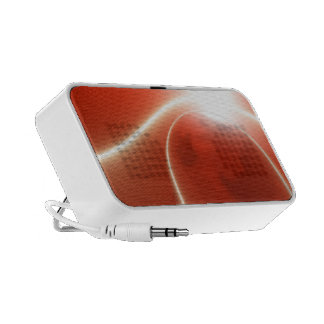 Red abstract design notebook speakers