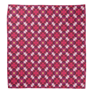 Red Abstract Floral Pattern Kerchiefs