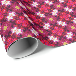 Red Abstract Floral Pattern Wrapping Paper