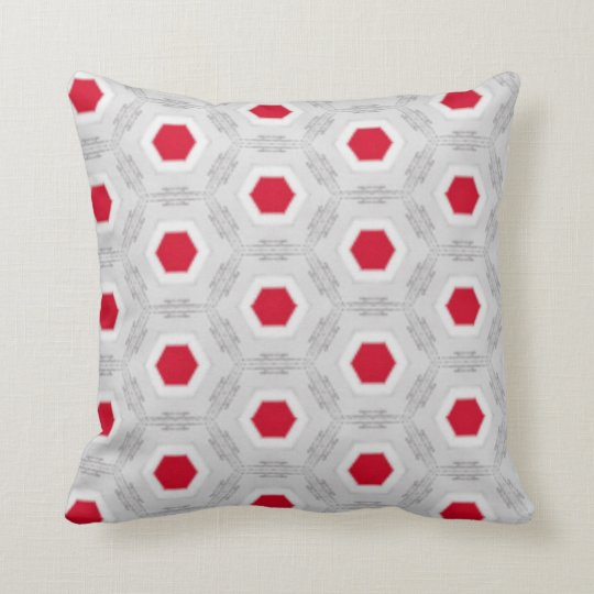 Red Abstract Geometric Pattern Pillow