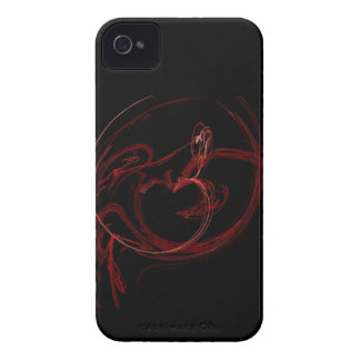 red abstract heart Blackberry Bold Case