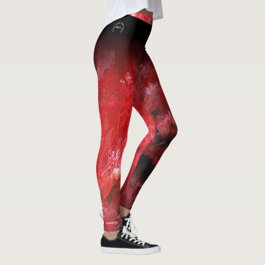 red abstract III for Gymnasts Leggings