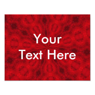 Red Abstract 4.25x5.5 Paper Invitation Card