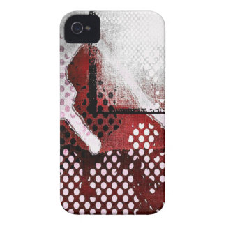 Red Abstract iPhone 4 Case-Mate Case