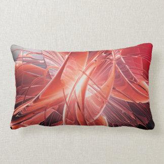 Red Abstract Lumbar Pillow