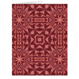 Red abstract pattern card