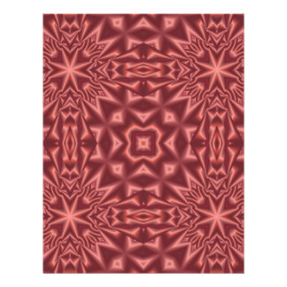 Red abstract pattern flyer