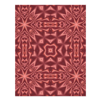 Red abstract pattern letterhead