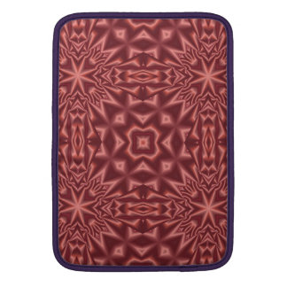 Red abstract pattern MacBook sleeve