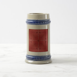 Red abstract pattern beer steins