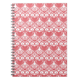 Red Abstract Pattern Spiral Notebook