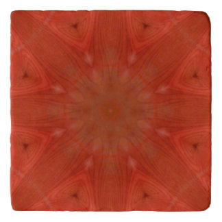 Red abstract pattern trivet