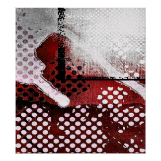 Red Abstract Poster