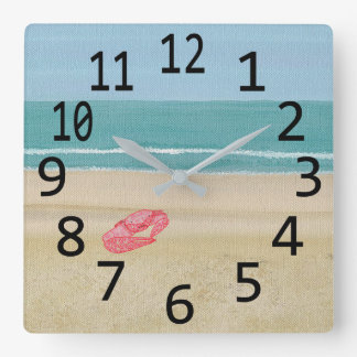 Red Abstract Sand Crab on Beach Wall Clocks